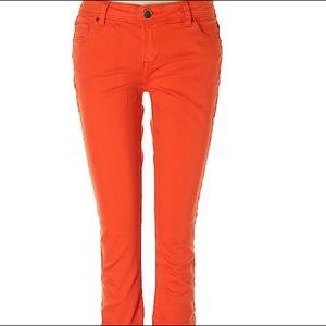 Life in Progress Forever 21 Orange Skinny Jeans 28